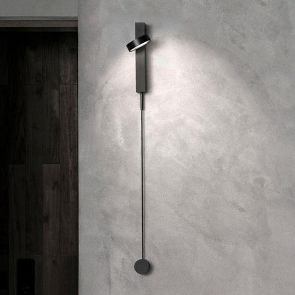 İskandinav modern duvar ışık lüks kısılabilir anahtarı basit oturma odası koridor koridor yatak odası yaratıcı kişilik başucu duvar lambası