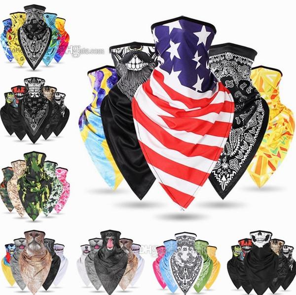 Moda hip-hop moda anacardo flor máscaras hip-hop hombres y mujeres cuello cuello al aire libre Máscaras de equitación triángulo bufandas deportivas Máscaras de fiesta 4682