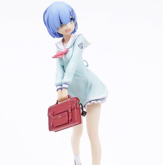 Re:Life In A Different World From Zero Action Figure Anime Model Rem School Uniform Ver.dolls Decoration Figurine Toy