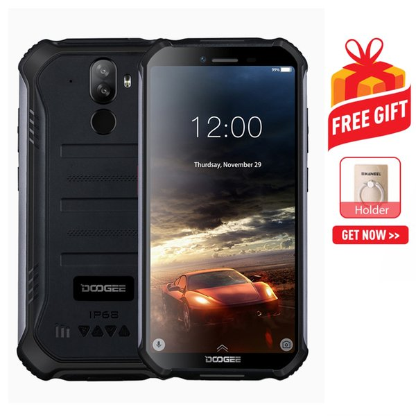 DOOGEE S40 Rugged Phone Waterproof Dustproof Shockproof 4650mAh Battery Dual Back Cameras Face & Fingerprint Identification 5.5 inch Android
