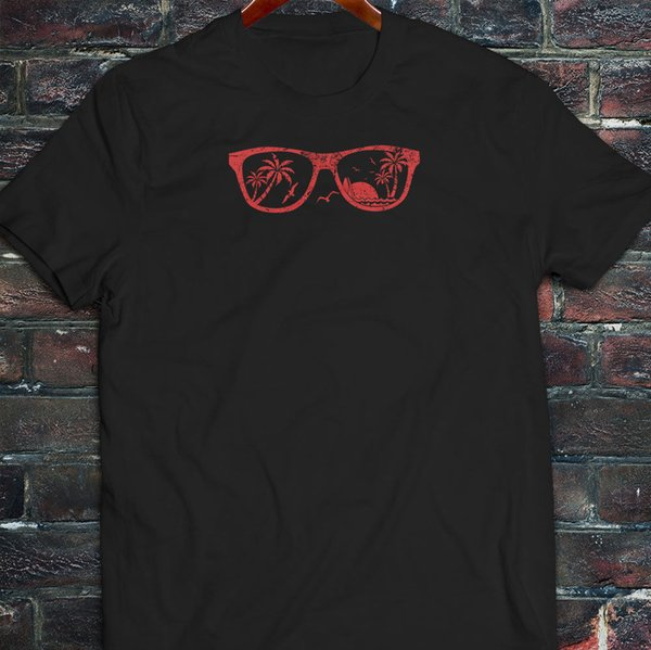 Beach Vision Glasses Factory Outlet T-Shirt T-Shirt For Men Geek Custom Short Sleeve Plus Size Party T-Shirts