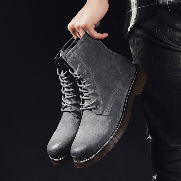 en pies tiros de precio de fábrica zapatos elegantes Compre Martins Botas Inglesas De Ayuda Viento Botas De Los Hombres ...