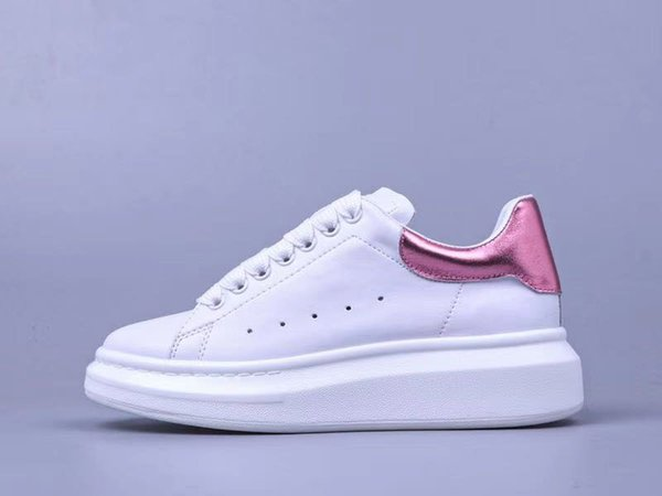 Designer shoes casual classic ladies men casual shoes white leather wild low help cheap comfortable casual shoes size 35-45 wholesale