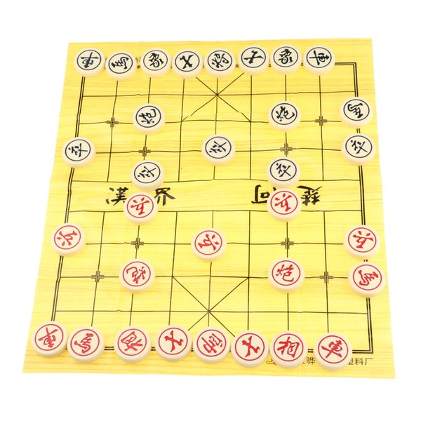 top popular Wooden Chinese Chess Set with Board and Playing Pieces Diameter 40mm 2021