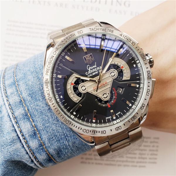 2020 Nuevo reloj de los hombres del movimiento de los hombres de acero inoxidable relojes de manera clásica mecánica de alta calidad de lujo automático