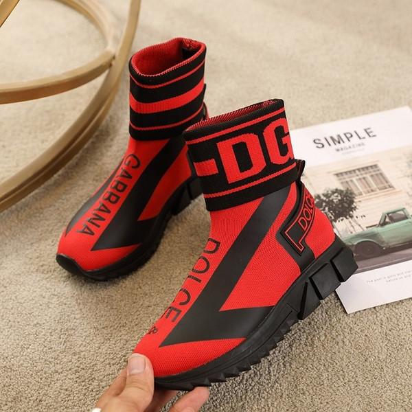 2020 para hombre de las mujeres zapatos de marca zapatos ocasionales unisex calcetines de punto Sorrento zapatilla de deporte turquesa as malla zapatillas tamaño de los zapatos casuales 35-45 1007