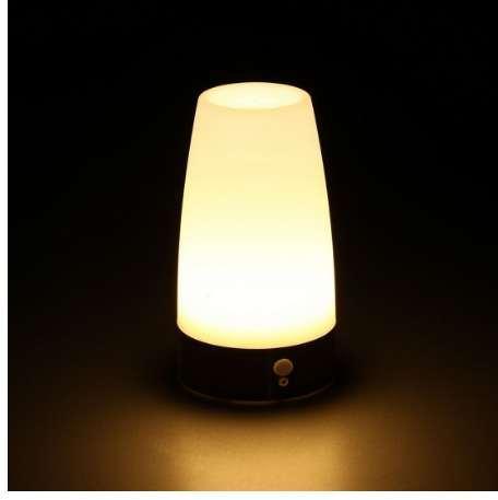 Venda quente PIR Sem Fio levou Sensor de Movimento Retro Quarto Night Light Alimentado Por Bateria LEVOU Lâmpada de Mesa Nightlight