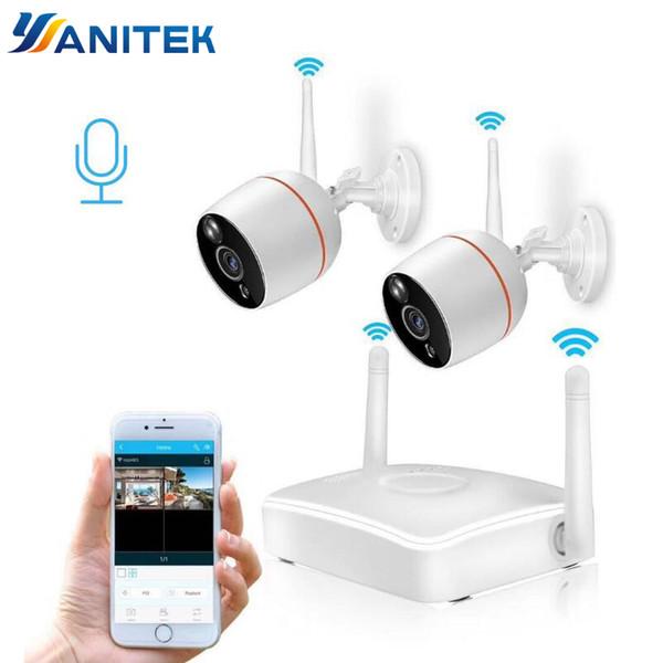 Yanitek H.265 Sistema de Câmera de Segurança CCTV HD 1080 P Wifi Mini NVR Kit de Vigilância de Vídeo Em Casa Sem Fio IP Câmera De Áudio Ao Ar Livre