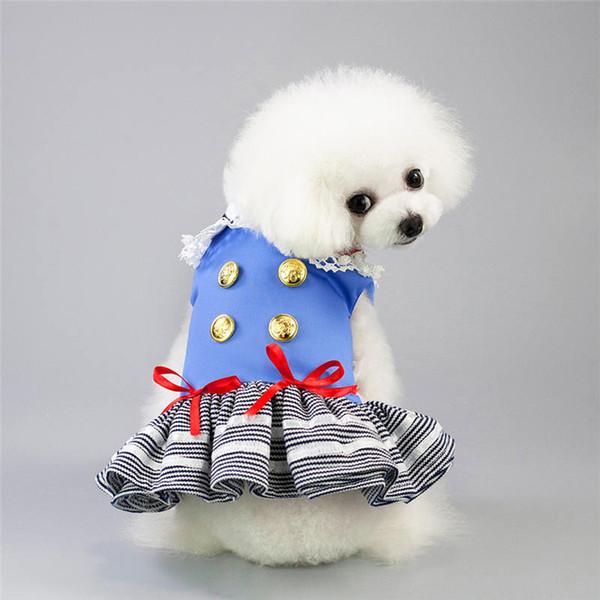Pet köpek aksesuarları Küçük Köpekler için Pet Köpek Giysileri Yaz Köpek Elbise Düğün Etekler Güzel Kedi Elbiseler Pet Giyim evcil hayvanla ...