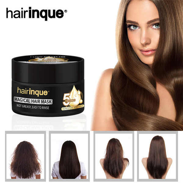 best selling Hairinque Miracle Treatment Hair Mask Moisturizing Nourishing 5 Seconds Repairs Damage Hair Restore Soft Hair Care Mask 50ml 30pcs