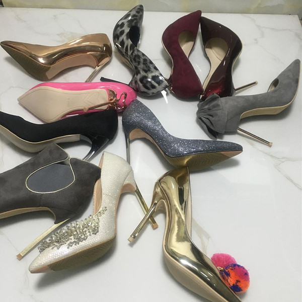 Amazing2019 Oyna Çocuk Sığ Ağız Ile Her Bir Keskin Yüksek Ince kadın Tekler Ayakkabı Tüm Dükkan Satım Tarzı Boyutu Rastgele Saç