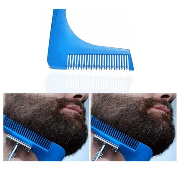 2019 Nuevo peine Barba Styling Plantilla Sexo Hombre Caballero herramienta de modelado barba Trimmer herramienta de la belleza Por barba recortada plantillas de pelo