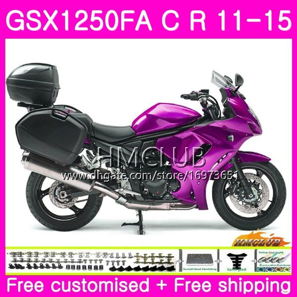 Body For SUZUKI Bandit GSX1250 C GSX1250F GSX1250FA 11 12 13 14 15 21HM.20 Glossy Pink GSX1250C GSXF1250 2011 2012 2013 2014 2015 Fairing