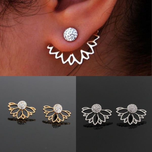 Fashion Europe Gold Silver Women Metal Jewelry Stud Earrings Spring Ring Evening Prom Earring Wedding Accessories In Stock Free Shipping