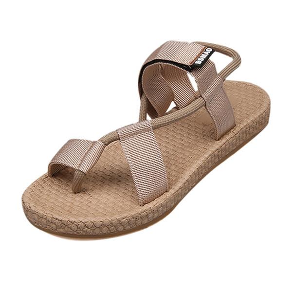 Nuovi arrivi sandali per signora estate donna scarpe moda donna tacco piatto caviglia sandali da spiaggia punta tonda calzature casualShoes