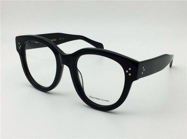 neue retro brille Prescription CE41755 große mode rahmen cat eye optisch für frauen full frame top quallity mit fall italienischen designer