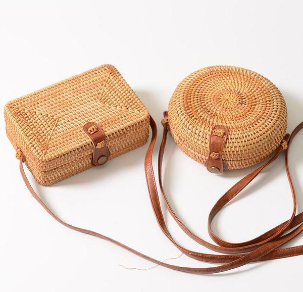 Mini Designer Handbags Vintage Rattan Cross Body Bags Asian Style Shoulder Bags Cell Phone Coin Pockets for Women Shopping