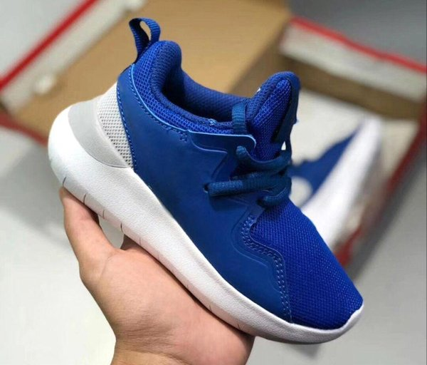 Kids Shoes Original London Olympic Designated Running Shoes Triple Black White Children Sport top quality Sneakers
