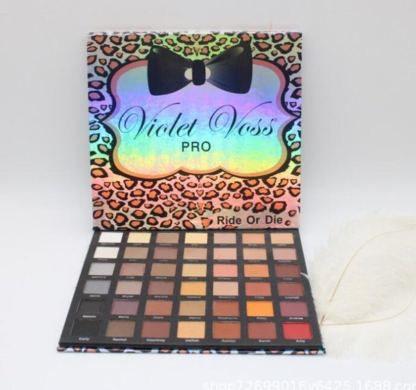 Violet Voss PRO Ride or Die Eyeshadow Palette 42 colors waterproof eye shadow palettes pro makeup palette for women beauty