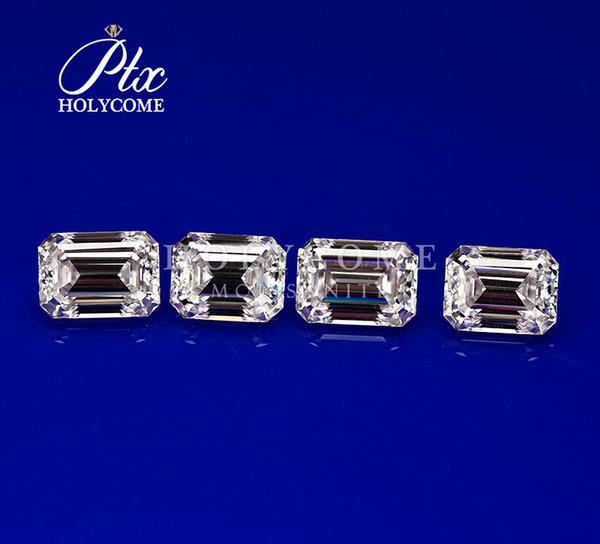 Fabrication directe vente émeraude coupe blanc lâche moissanite 13 * 9mm taille haute qualité synthétique diamant pierre bijoux