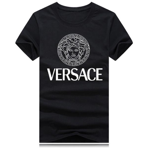 xiaoss521 / 2018 Nova marca em torno do pescoço T-shirt Rua poloshirt camisa de manga curta homens teel quadril Designer mens camisetas