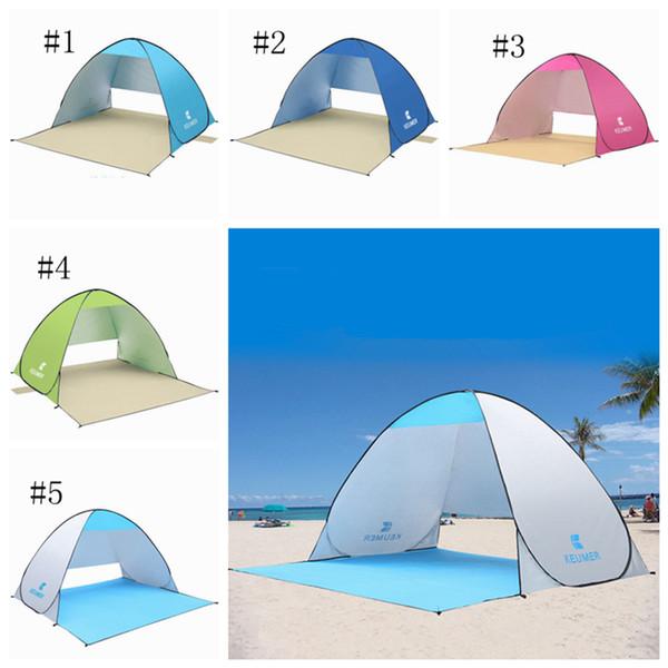 Açık Plaj Çadır Barınaklar Gölge UV Koruma Balıkçılık Yürüyüş için Ultralight Çadır Piknik Parkı plaj ZZA316