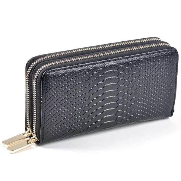 top quality women man original box luxury real leather multicolor date code short wallet Card holder classic zipper pocket Victorine 078
