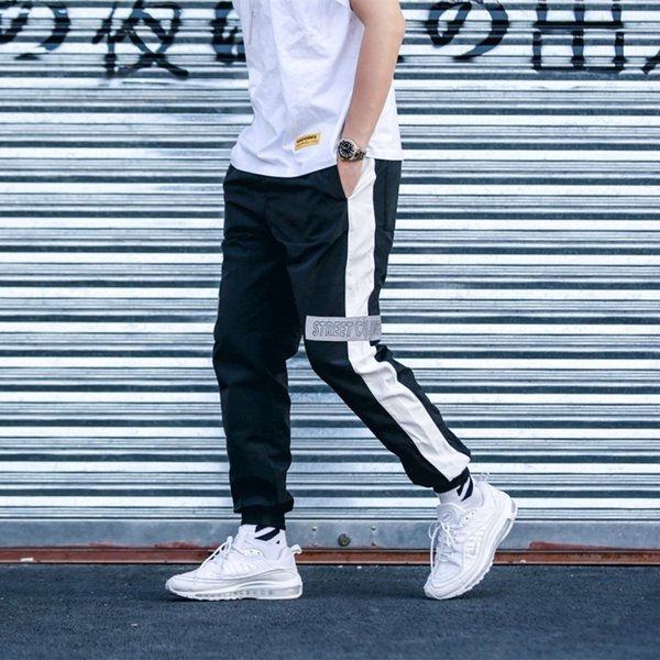 Tide brand INS super fire sports pants men casual trousers 3M reflective calabasas pants retro beam feet designer sweatpants lovers pants