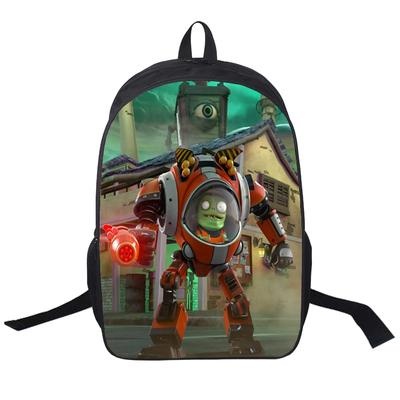 Quality backpack Plants vs Zombies daypack Good design schoolbag Game print rucksack Sport school bag Outdoor day pack