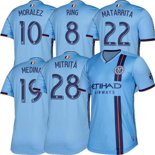 best selling 2019 Fan version New York City MLS Soccer Jersey Football Shirts 19/20 NYC Home Pirlo Camiseta de futbol David Villa Maglie