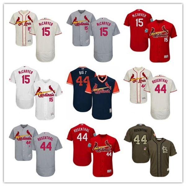 "Mens Women Youth #St. Louis #15 Tim McCarver 44 Trevor Rosenthal ""Big T"" Custom White Black Red Baseball Jerseys Francisco Card inals"