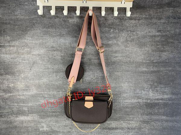 top popular favorite multi pochette accessories handbag purse genuine leather flower shoulder crossbody bag ladies purses 3 pcs purse bags 2020