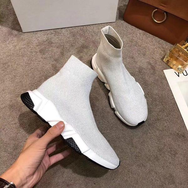 Meias de moda Homens e Mulheres Calçados Esportivos Designer de Malha Botas Elásticas Tamanho Grande 35-46 Luxo 2019 Botas Sapatos Amantes
