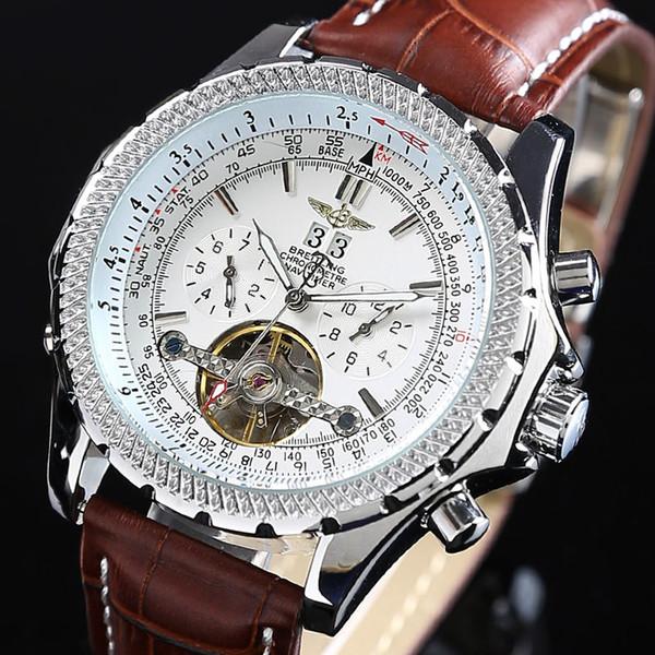 Brietling erkek saatler otomatik izle ünlü marka moda takvim 43mm yüz su geçirmez mekanik İzle İyi kalite