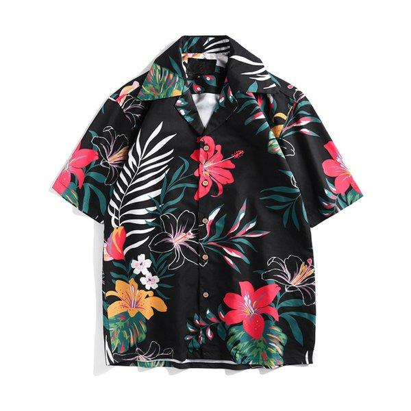 3D Print Florals Men Shirts Man Casual Hawaiian Short Sleeve Loose Shirt Chemise Homme Hip Hop Beach Clothes camisa masculina