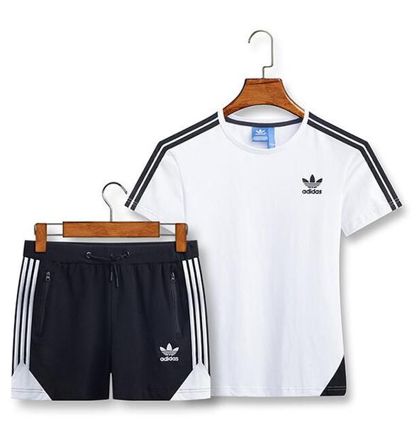 Горячие продажи мужские и женские повседневные спортивные костюмы футболки спортивные шорты унисекс с короткими рукавами с шортами брюки #5316