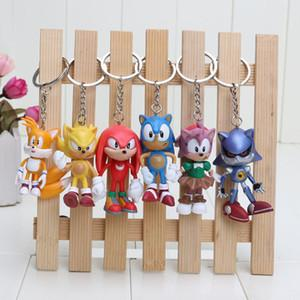 6cm Sonic the Hedgehog action figures Toy PVC toy Sonic Characters figure toys brinquedos Doll 6pcs/set keychain pendant gift kids toys