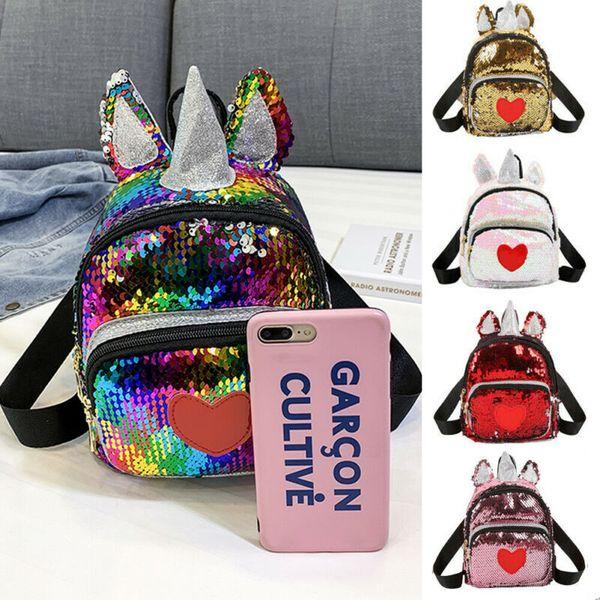 İNGILTERE Sevimli Kız Bayan Pullu Mini Sırt Çantası Okul Çantası Seyahat Sevimli Glitter Sparkly Çanta Omuz