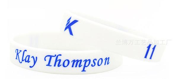 Toptan 100 adet en kaliteli silikon bilezik kauçuk bileklik basketbol spor bileklik thompson hayranları hediye olarak