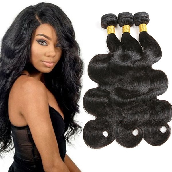 Brésil Virgin cheveux Bundles non transformés Offres 3Pcs Lot vague de corps humain Cheveux Weave Indien Malais Pérou Cheap Hair Extensions