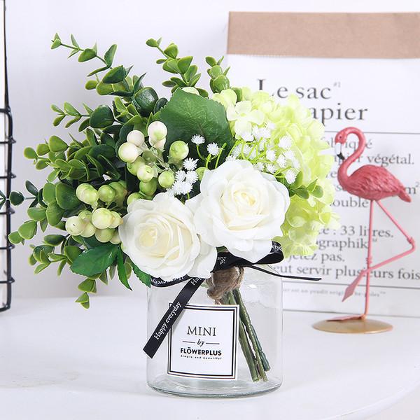 Acheter 2019 Ins Fleur De Soie Rose Frais Scandinave Ornements Vase Salon  Imitation Eucalypti Afficher La Table Costume Fleuriste De $24.51 Du ...