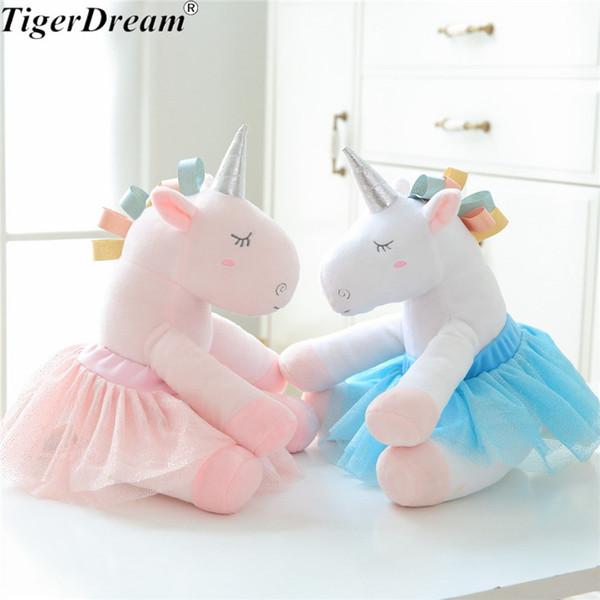 30X20cm Unicorno Morbido Con Abito Peluche Peluche Gonna Balletto Unicorno Animale Farcito Unicorno Cuscino Dormitorio Regali Per Bambini