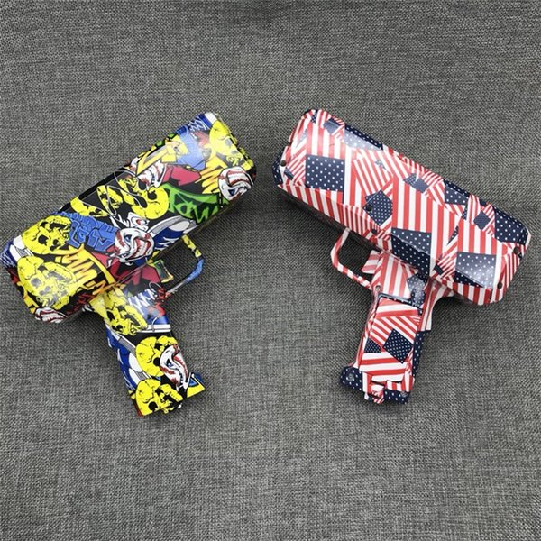 New Designs Cash Cannon Money Gun Toys 2 colors Fashion Decompression money gun Make It Rain Money Toy Guns Kids Toys DHL SS228