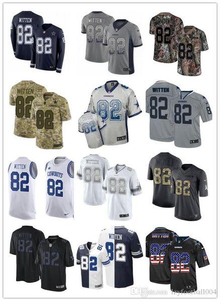 2019 personalizado cualquier número numa mejor camiseta de rugby Wear Dallas 82 Jason Witten Cowboy men / WOMEN / YOUTH Rugby Jerseys s-xxxxl