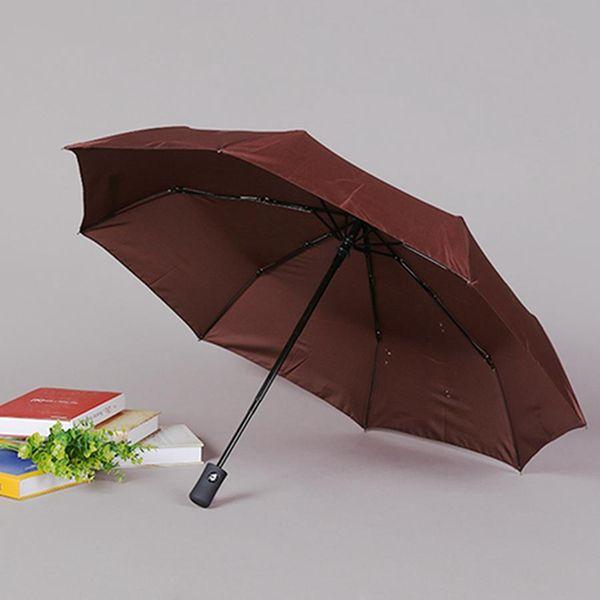 8 Bone Rainproof Windproof Umbrellas With Portable Cover Men Women Customizable Solid Fully-automatic Three-folding Umbrellas BH0994 TQQ