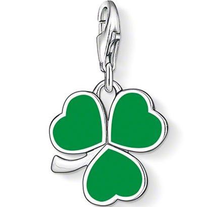 PT1425 vert irlandais Shamrock Charm Ts style charme Bon Bijoux pour les femmes, Ts En cadeau argenté Sac Fit