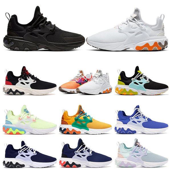 2020 New react presto BEAMS men women running shoes DHARMA Triple Black Phantom Red Barely Volt mens breathable trainers sports runners