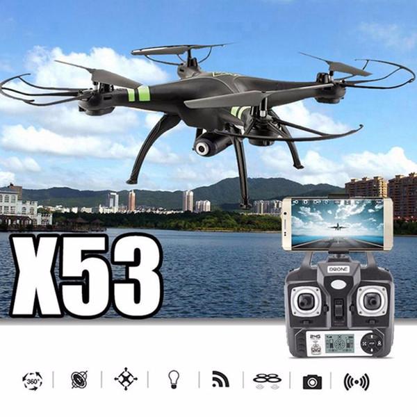 X53 Drone FPV Quadcopter Camera Drones 720P HD Wifi FPV Quadcopter Auto-Takeoff Remote Model Airplane Drone Camera Helicopter