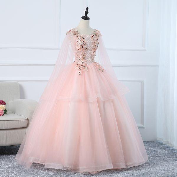 freeship luxe lumière rose épaule voile broderie fée robe de bal robe longue robe Renaissance médiévale robe royale Victoria