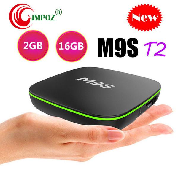 1 PCS Smart TV Reproductor multimedia M9S T2 H3 TV BOX Android 7.1 Cajas de TV 4K Genuino 2GB 16GB 1GB / 8GB 2.4G WiFi Internet IPTV BOX